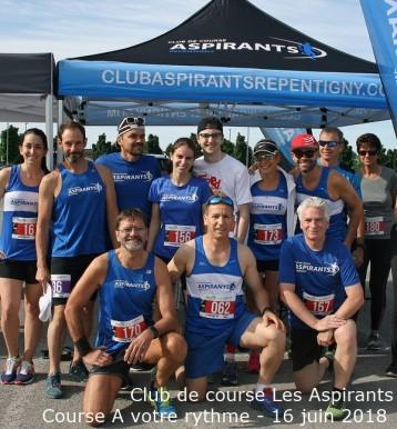 Club de course Les Aspirants - Course A votre rythme - juin 2018