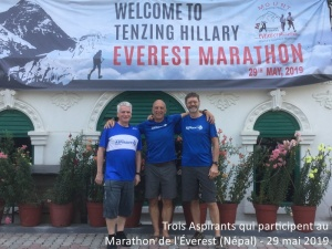 Participants au Marathon de l'Éverest le 29 mai 2019