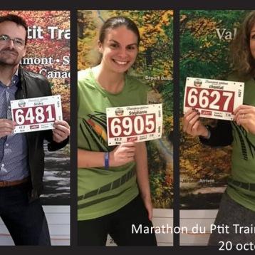 Marathon P'tit Train du Nord - 20 octobre 2019